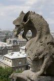 Quimera de la catedral de Notre Dame Foto de archivo libre de regalías