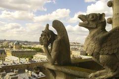 Quimera de Notre Dame Cathedral Foto de Stock