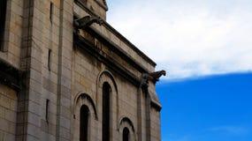 Quimeras em Basilique du Sacre Coeur Imagens de Stock