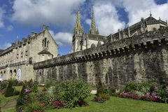 Исторический центр Quimper, Бретани, северо-западной Франции Стоковое Изображение RF