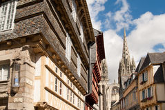 Quimper in brittany. City of quimper in brittany Royalty Free Stock Image
