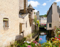 Quimper in brittany. Retro view of quimper in brittany Stock Photo