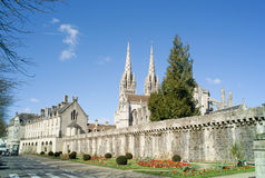 Quimper in brittany. City of quimper in brittany Stock Photography