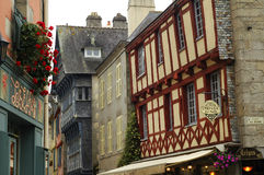 Quimper (Brittany): old houses Stock Images