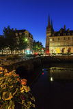 Quimper Cathedral at night Stock Images