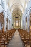 Interior view of the Saint Mathieu Church in Quimper in Brittany