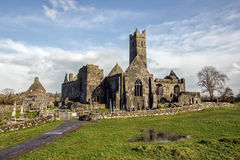 Quin修道院爱尔兰 免版税库存照片