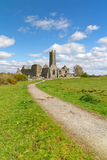 Quin abbey. In Co. Clare - Ireland Royalty Free Stock Images