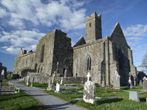 Quin abbey. View of ruins of Quin abbey in the village of Quin, county Clare, Ireland Royalty Free Stock Image