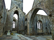 Quin Abbey célèbre en Irlande Photo libre de droits