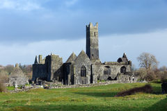 Quin Abbey. County Clare, Ireland Stock Images