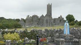 Quin Abbey, County Clare, Ireland -- Historic Public Building Attraction in Ireland stock footage
