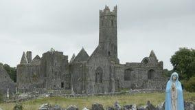 Quin Abbey, County Clare, Ireland -- Historic Public Building Attraction in Ireland stock video footage