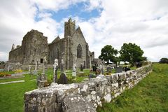 Quin Abbey ruins in Ireland Stock Photos