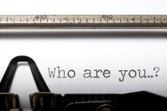 ¿Quién son usted? Foto de archivo libre de regalías