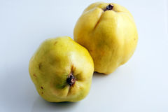 Quince. On a white background Stock Image