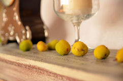 Quince as a home decoration Royalty Free Stock Photos