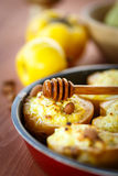 Quince baked with cheese Royalty Free Stock Photography