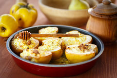 Quince baked with cheese Royalty Free Stock Photos