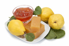 Quince cheese and jelly Stock Photos