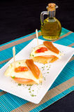 Quince and cheese tapa Royalty Free Stock Photo
