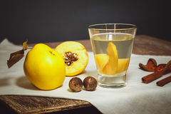 Quince compote Stock Photography