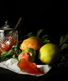 Quince Fruit and Quince Jelly Royalty Free Stock Photos