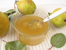 Quince gelatin. And fresh fruits Stock Image