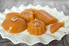 Quince Gelatin Dessert. Also Known as Kitnikez Made from Fresh Quince Stock Image