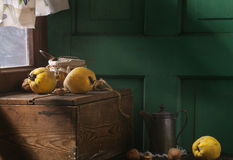 Quince and Honey Stock Photos