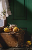 Quince and Honey Stock Images