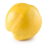 Quince isolated on the white background Stock Photos