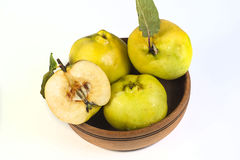 Quince. Isolated on whitw backgraund Stock Photography