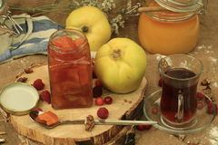 Quince jam. Sweetness tasty dessert fruit health Royalty Free Stock Photos