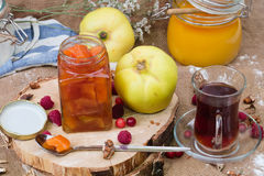 Quince jam Stock Photography