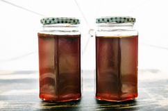 Quince jelly cooling down Stock Photo