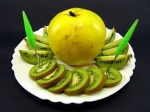 quince kiwi Zdjęcie Royalty Free