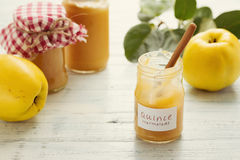 Quince Marmalade. Delicious quince and lemon marmalade, homemade Royalty Free Stock Photo
