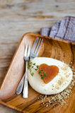 Quince Marmelade And Mozzarella Cheese Stock Images
