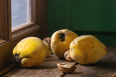 Quince and nuts Stock Photography