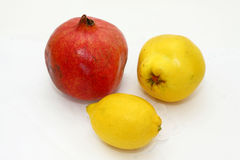 Quince, pomegranate, lemon Stock Image