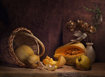 Quince and pumpkin Royalty Free Stock Photography