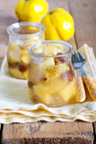 Quince and raisin compote Stock Photos