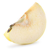Quince slice isolated on the white background Royalty Free Stock Photography