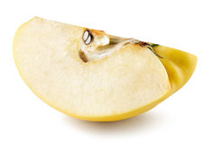 Quince slice isolated on the white background Royalty Free Stock Images