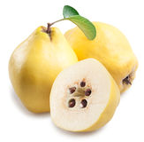 Quince with slices. Quince with slices on a white background Stock Image