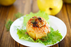 Quince stuffed with meat Royalty Free Stock Photo