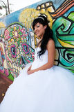 Quinceanera-Geburtstags-Mädchen Stockfoto