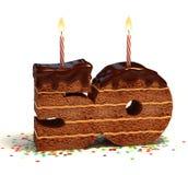Quincuagésima torta del cumpleaños o del aniversario Fotos de archivo libres de regalías
