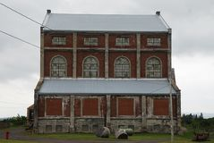 Quincy Copper Mine Steam Hoist byggnad royaltyfri fotografi